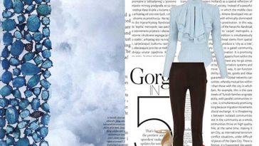 Baby Blue & Dark Brown - Mix & Match Fashion