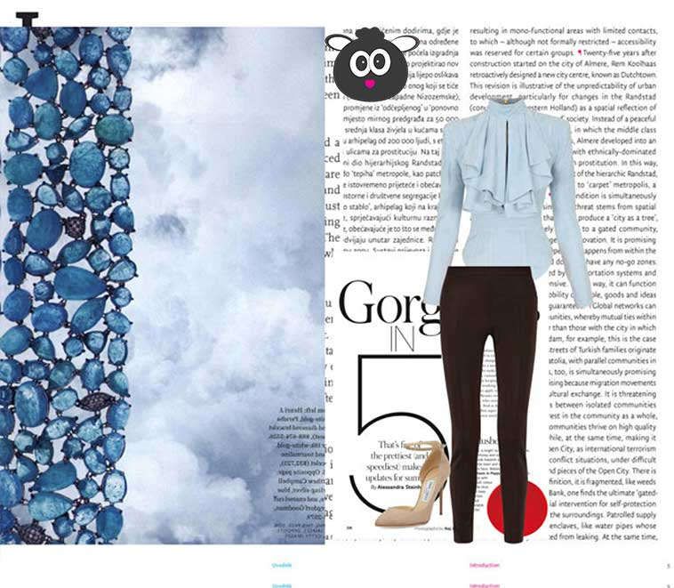 Baby Blue & Dark Brown - Mix & Match Fashion